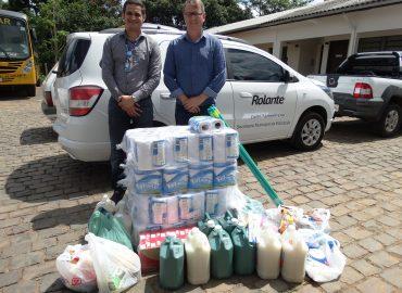 Delta fez ação solidária para atingidos pela chuva em Rolante